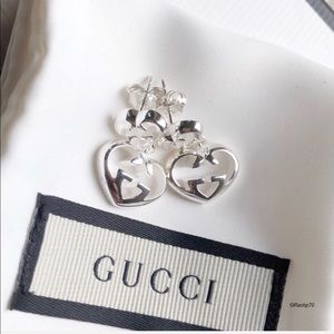 New Authentic GUCCI Love Britt Heart Earrings